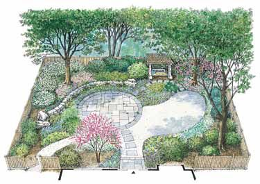 Native shade garden hwbdo11148 house plan from for Builderhouseplans com