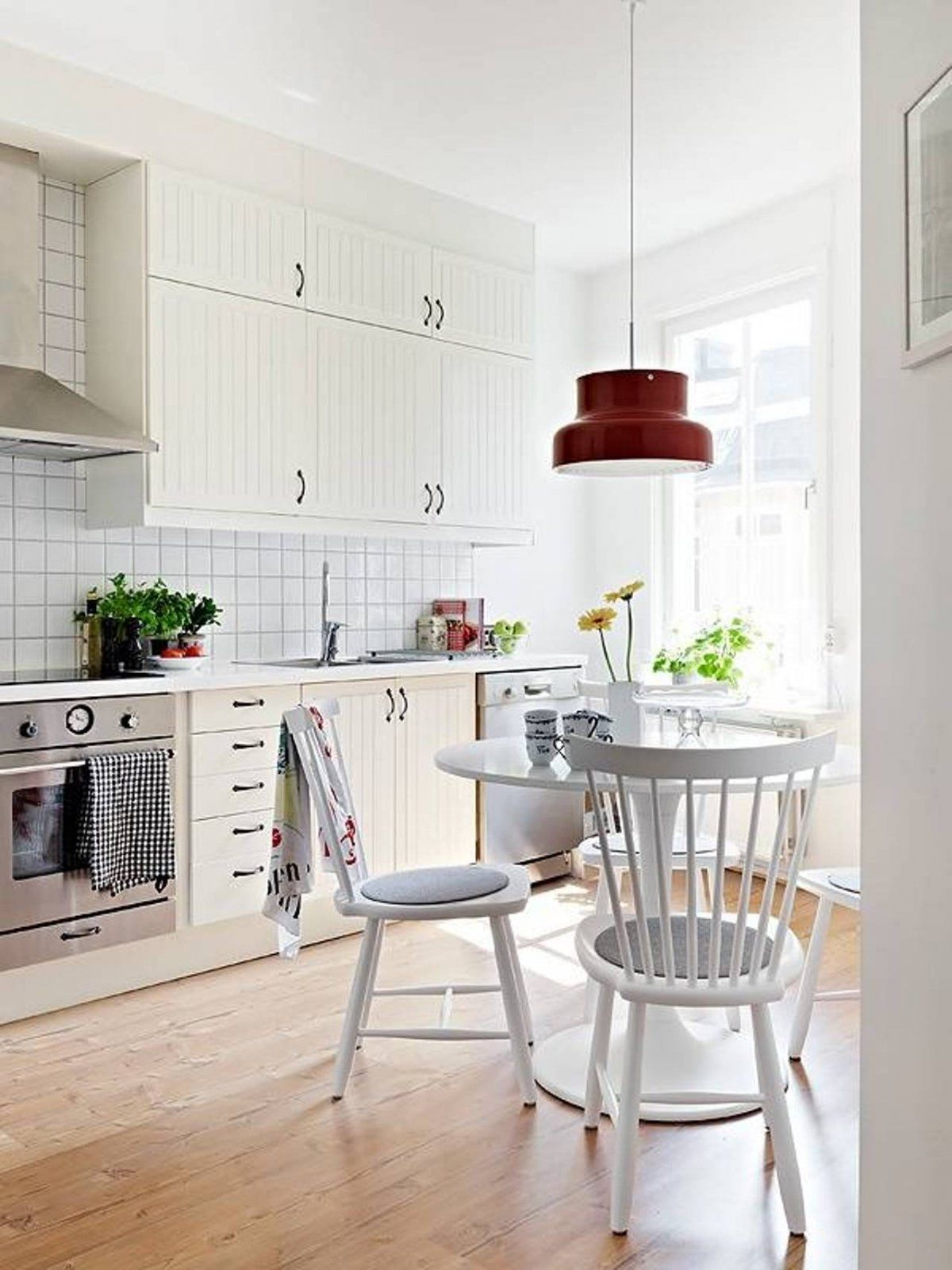 Architecture Modern Scandinavian Interior Kitchen Design With Bright ...