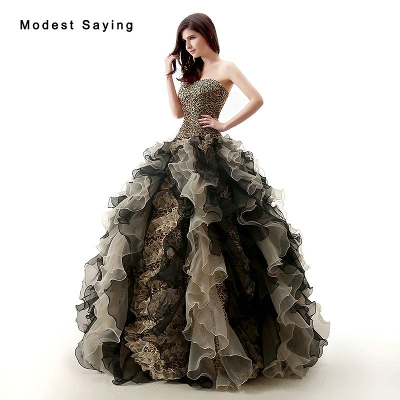 Find More Quinceanera Dresses Information about Elegant Leopard Ball ...