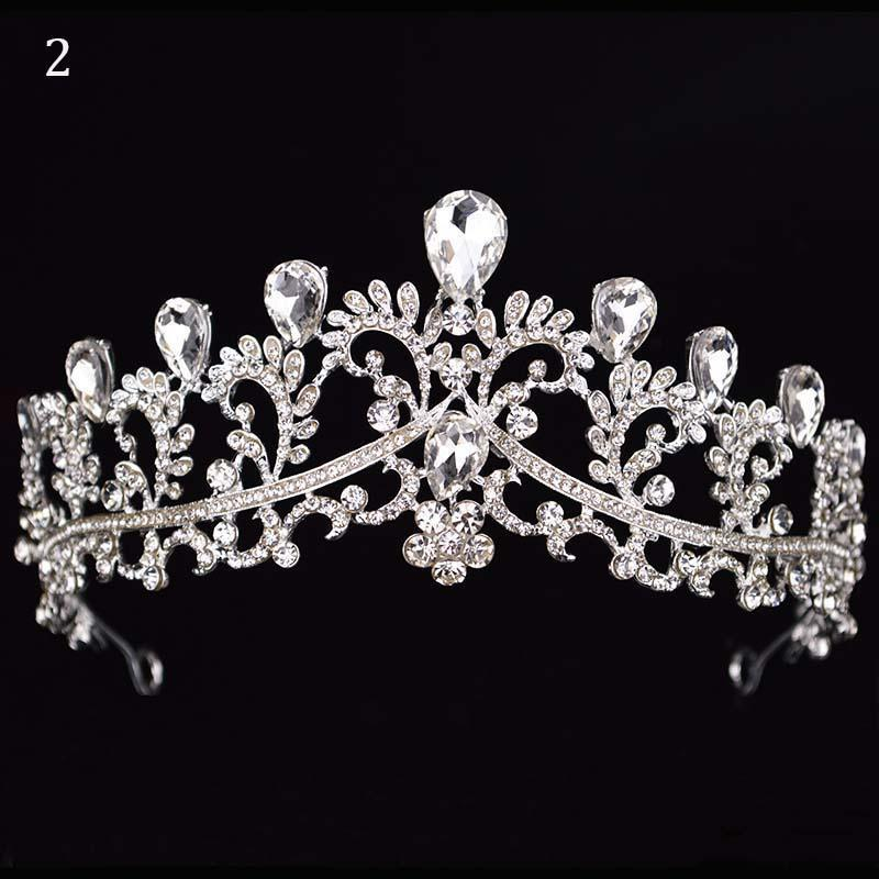 Hairstyles With Crown Queen: Queen Of The Night Crystal Tiara Crowns In 2019