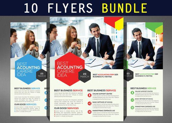 10 multi corporate flyers bundle creativework247 flyer templates