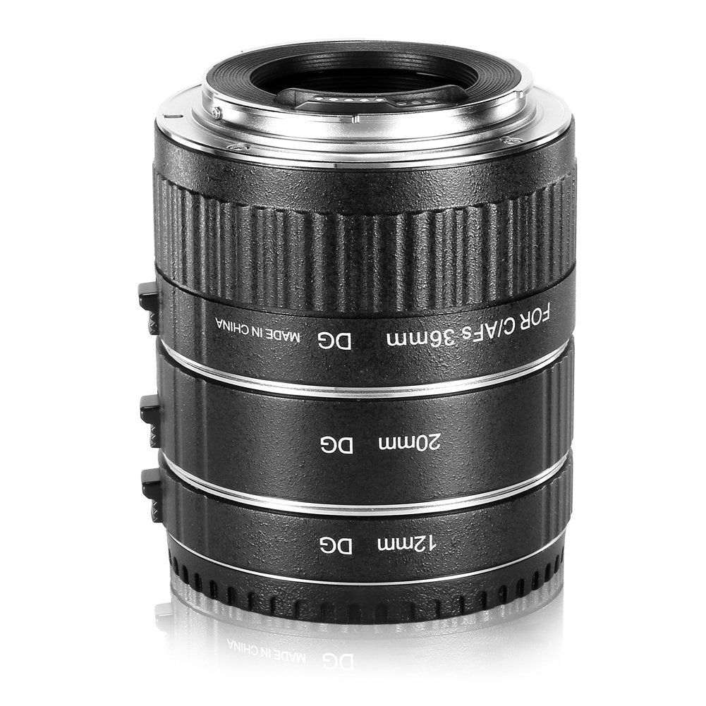 Neewer Metal 13-21-31mm AF Auto Focus Macro Extension Tube Set for Canon DSLR Cameras Such as 7D Mark II,5D Mark II III,IV,1300D,1200D,1100D,750D,700D,650D,600D,550D,500D,100D,80D,70D,60D, #Ad #Extension, #Ad, #Tube, #Focus, #Macro