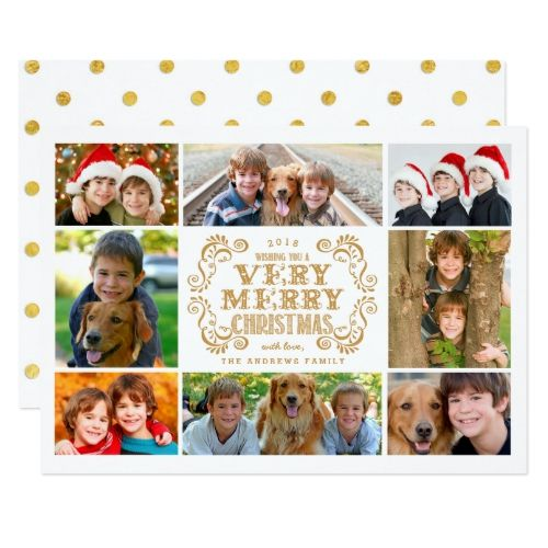 modern merry christmas collage holidays photo card holiday photo