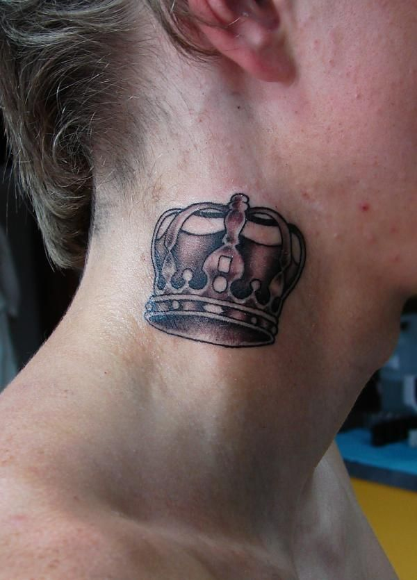 Neck Crown Front Neck Tattoo Neck Tattoo For Guys Best Sleeve Tattoos