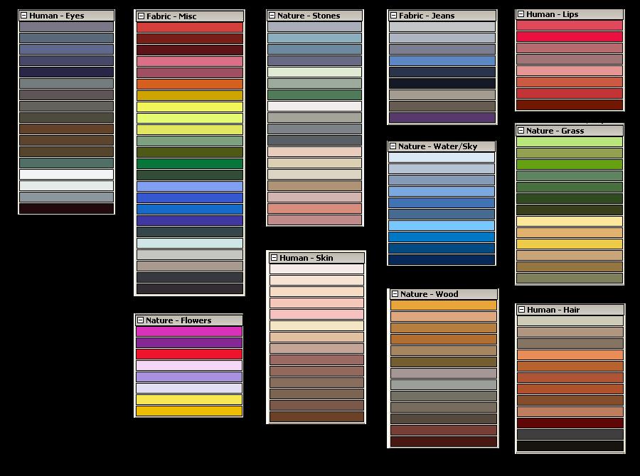 Gimp Palettes By Nevit On Deviantart Gimp Palette Deviantart