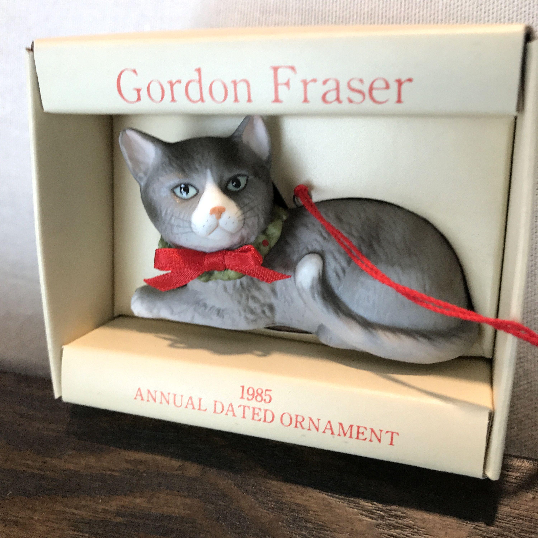 Vintage schmid cat Gordon Fraser ornament