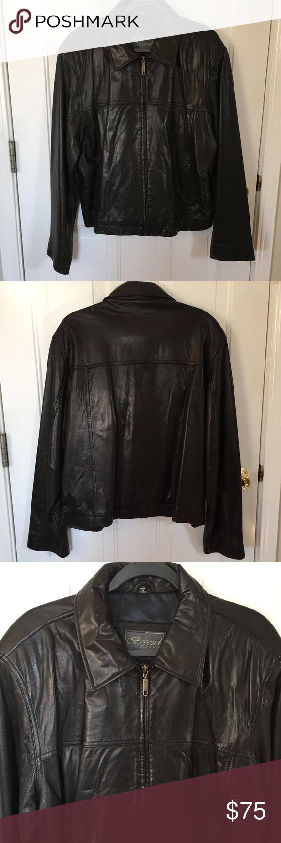 Men S Beyond California Leather Jacket Sz Xl Fashion Fashion Trends Mens Black Jacket [ 1740 x 580 Pixel ]