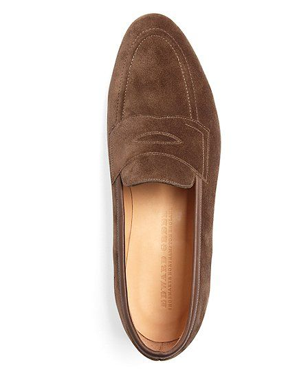 Edward Green Suede Loafers - Brooks
