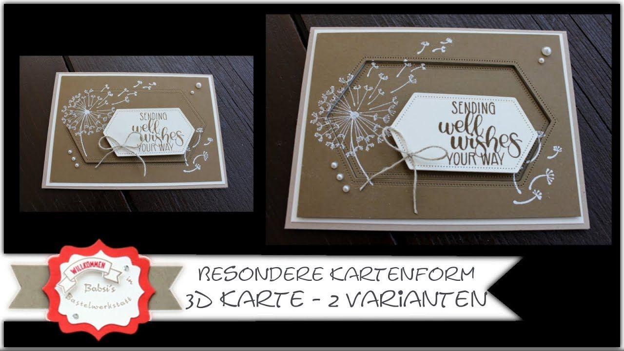 Besondere Kartenform 3 D Karte mit Produkten von Stampin