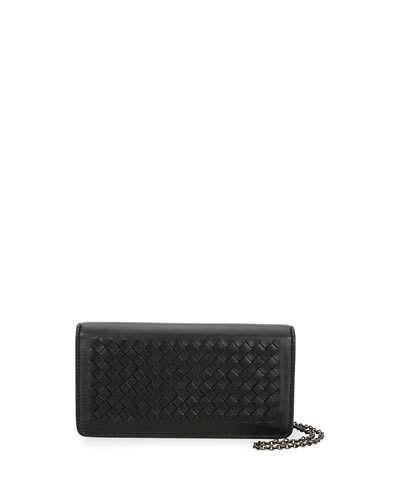 ba2c1d27150fc3 BOTTEGA VENETA Intrecciato Flap Wallet-On-Chain. #bottegaveneta #bags  #shoulder bags #wallet #leather #accessories #