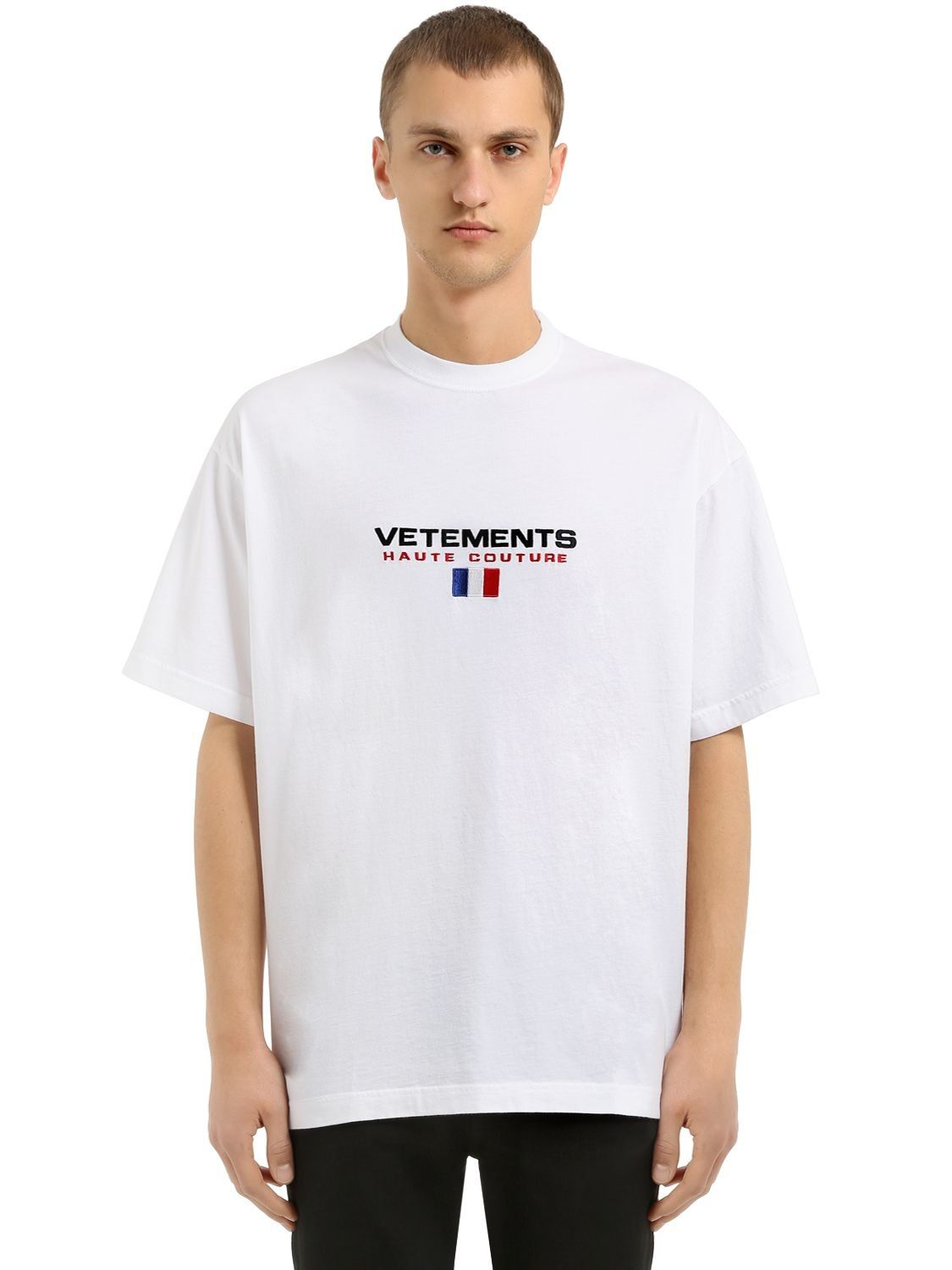 73bffd4c65e9 VETEMENTS OVERSIZED HAUTE COUTURE JERSEY T-SHIRT.  vetements  cloth ...