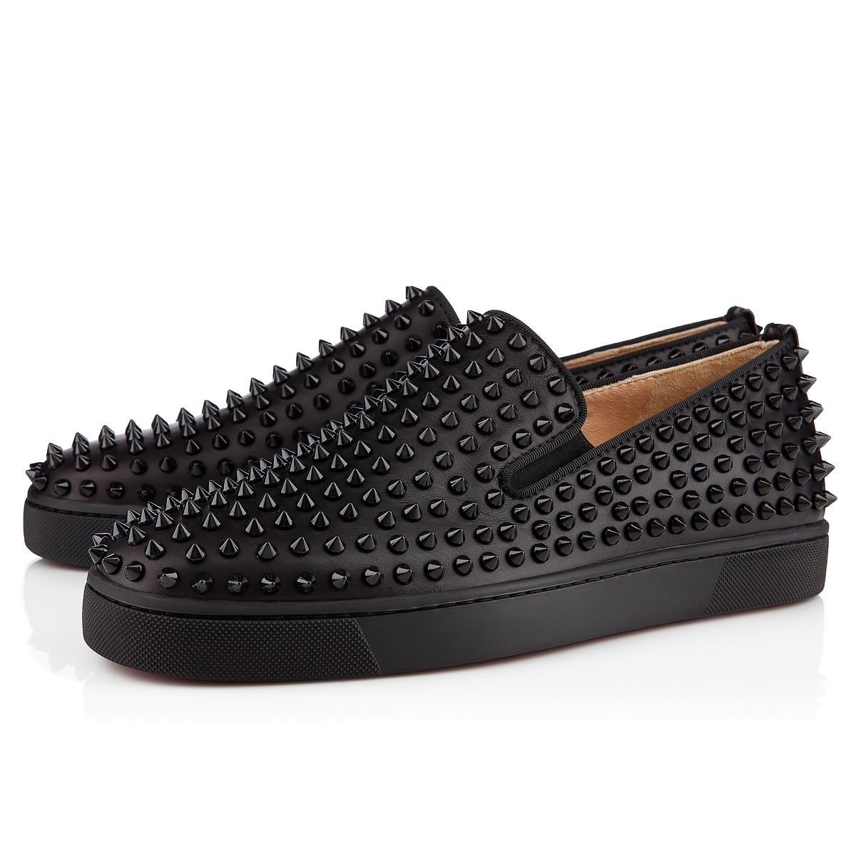 aaf87adad78 Roller-Boat Black/Black Leather - Men Shoes - Christian Louboutin in ...