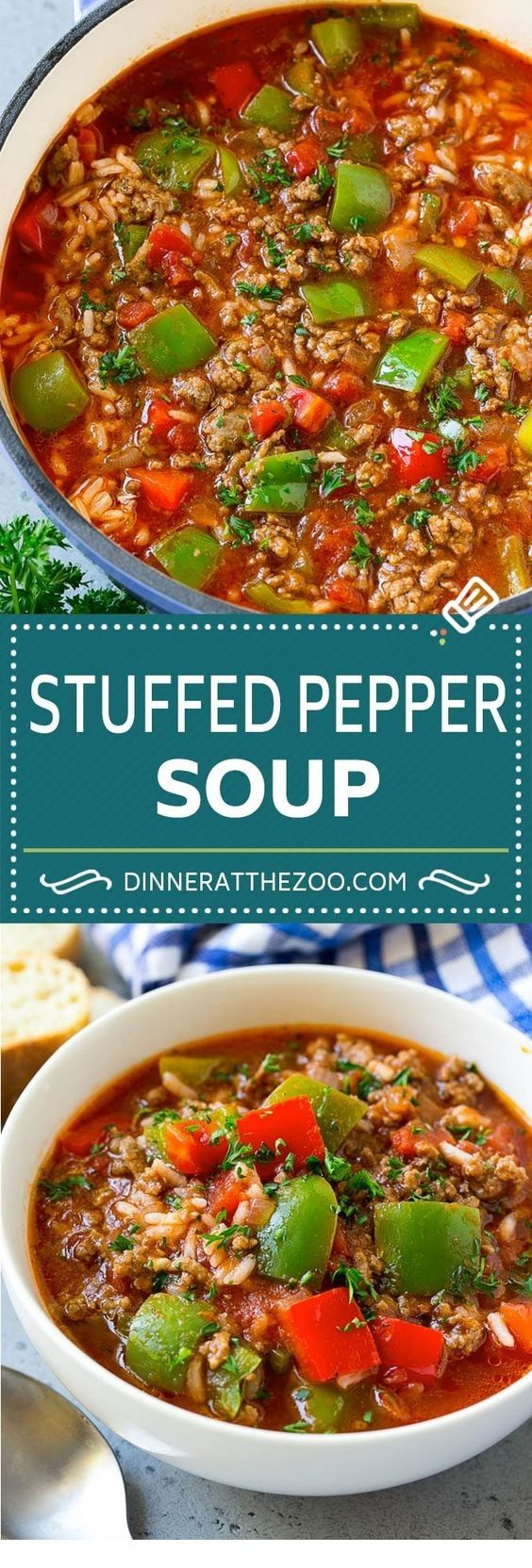 Stuffed Pepper Soup Recipe Easy Soup Recipes Healthy Soup Recipes Stuffed Peppers