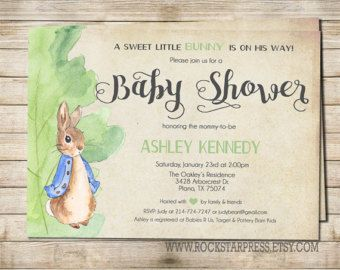 Peter Rabbit Invitations Peter Rabbit Girl Boy Baby Shower
