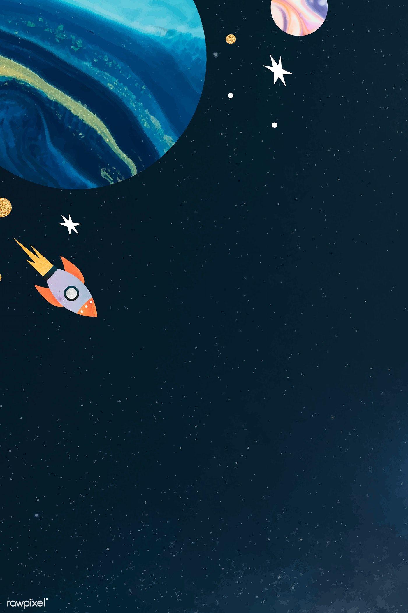 Download premium vector of Colorful galaxy waterco
