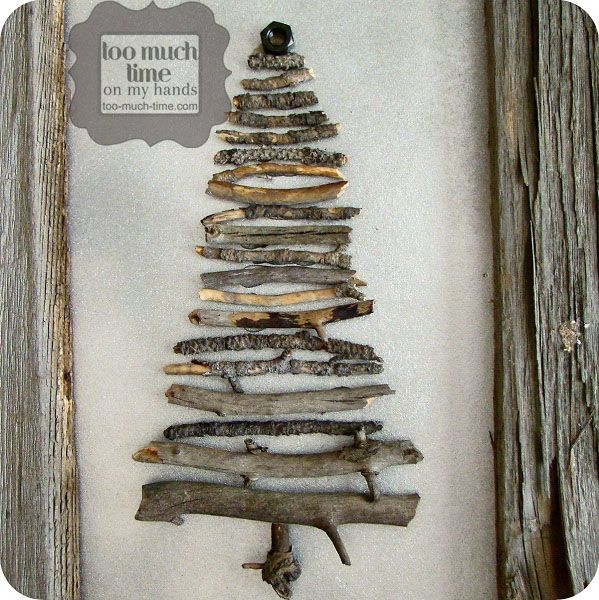 Rustic Christmas Craft Ideas Part - 48: Rustic Stick Tree From Too Much Time On My Hands 3 Copy
