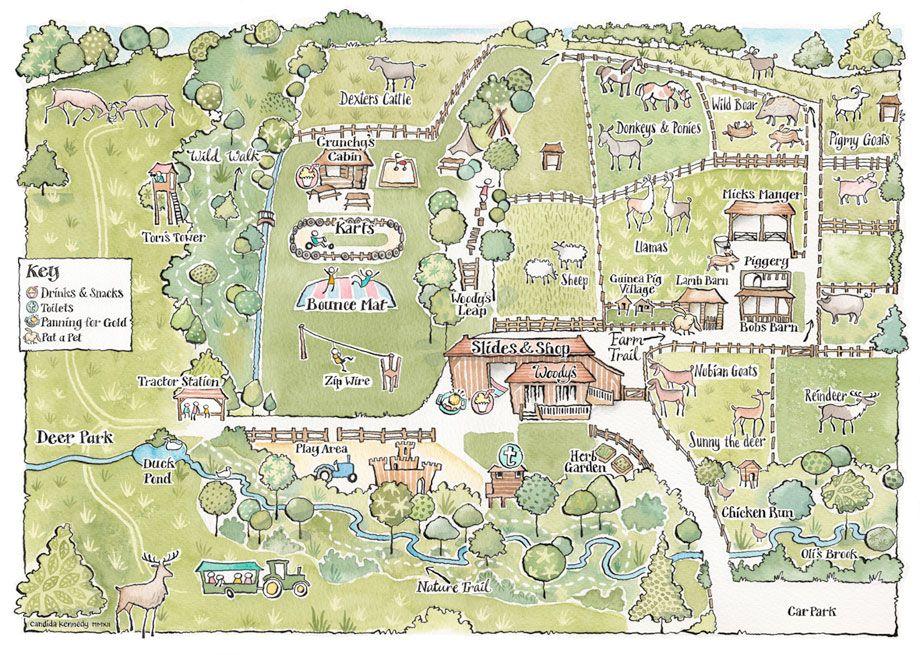 Farm map | Bucklebury Farm Park UK (With images)