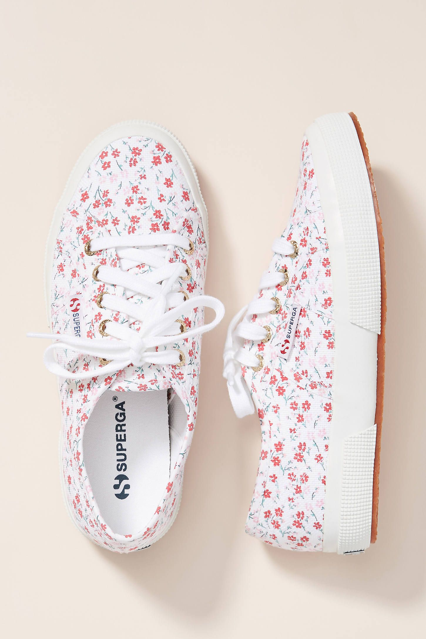 Superga Floral-Printed Sneakers in 2020