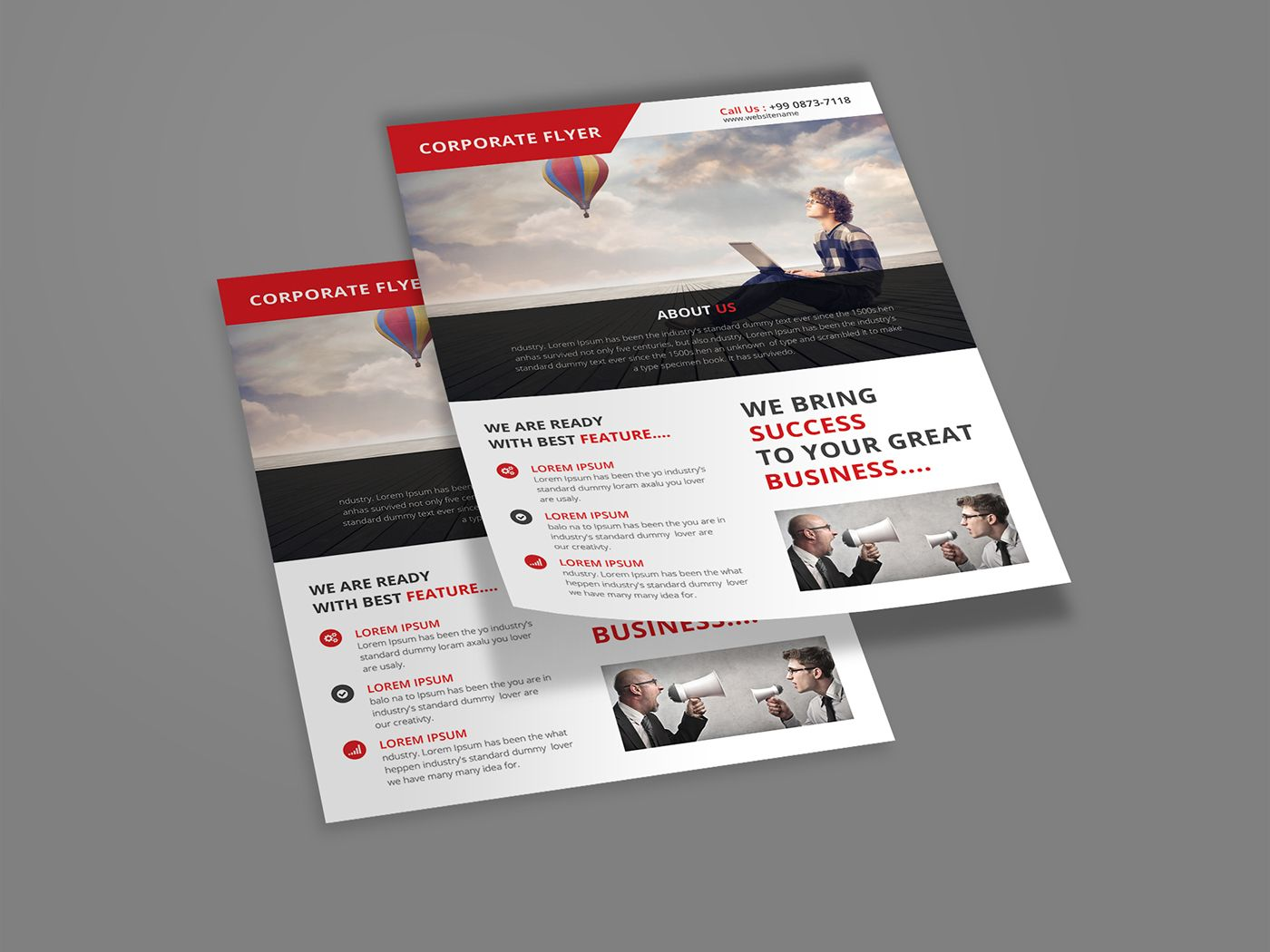 Free Design Data Download Corporate Flyer Template Psd Free Free