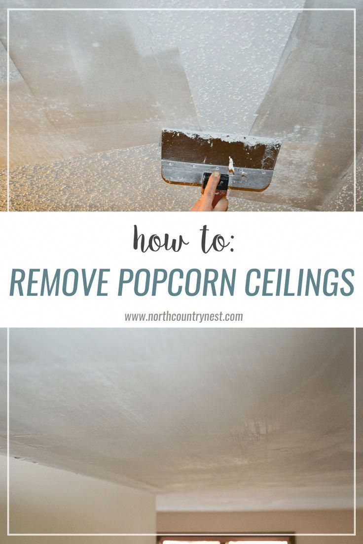 popcorn ceilings / remove / home renovation / scraping
