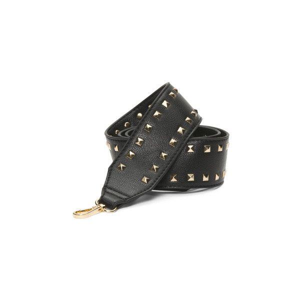 Studded Guitar Bag Strap (£11) ❤ liked on Polyvore featuring bags, handbags, shoulder bags, shoulder strap bags, shoulder strap handbags, studded shoulder bag, studded handbags and pu handbag