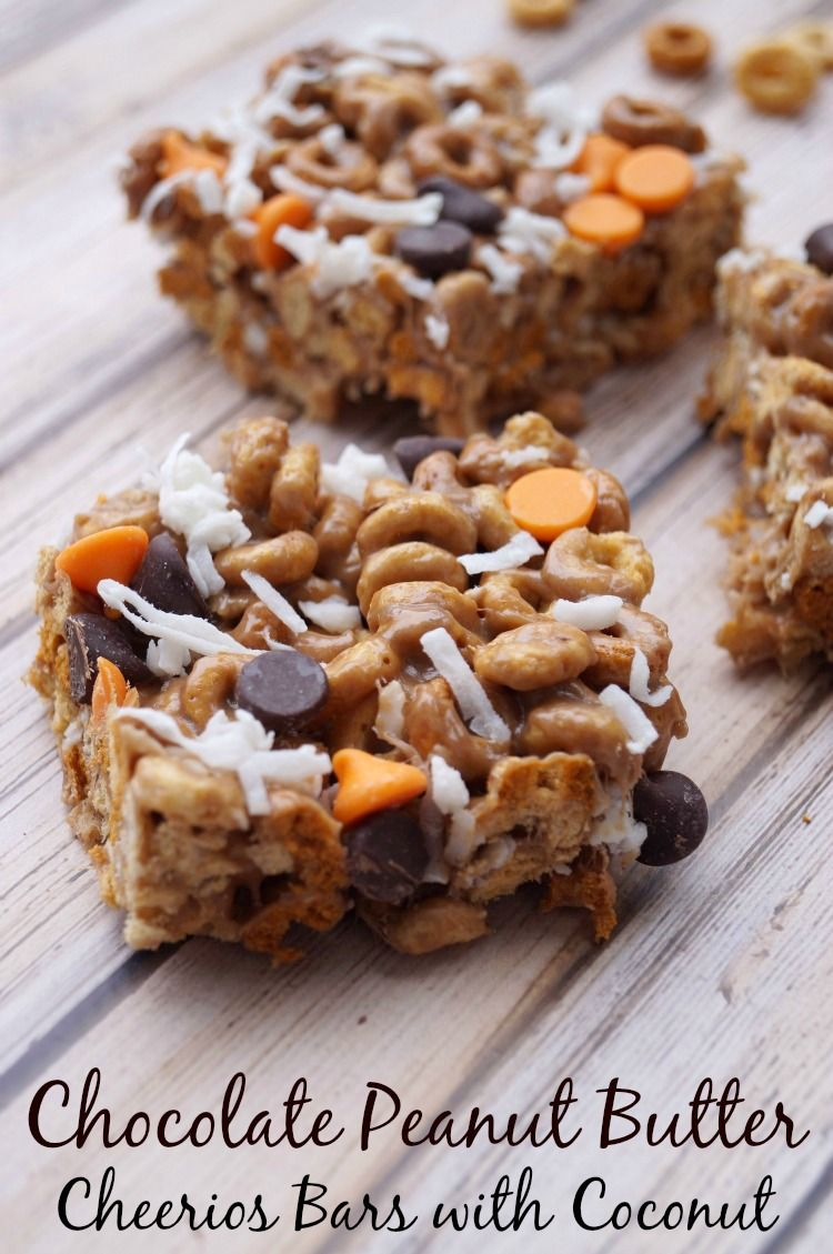 Echa un vistazo a Chocolate Peanut Butter No Bake Cheerios™ Bars ...
