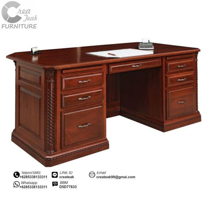harga meja dan kursi kantor kerja kayu minimalis jual murah