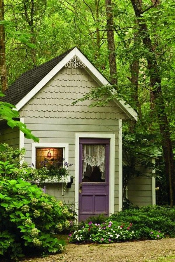 15 Whimsical Charming Gardens Shed Designs The Art In Life Backyard Sheds Shed Design Backyard Storage Sheds