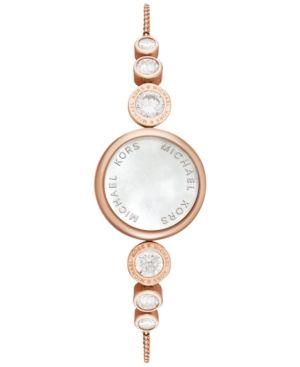 Michael Kors Access Women S Varick Rose Gold Tone Stainless Steel Slider Bracelet Activity Mother Of Pearl Jewelry Michael Kors Jewelry Stainless Steel Jewelry
