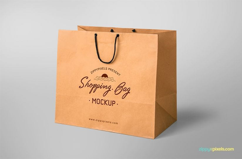 free shopping bag mockup with editable design | Mockups ...