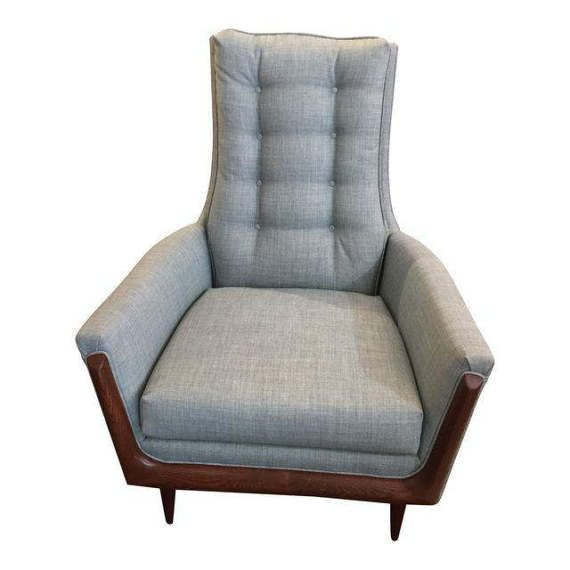 Magnificent Vintage Adrian Pearsall Restored High Back Lounge Chair With Camellatalisay Diy Chair Ideas Camellatalisaycom