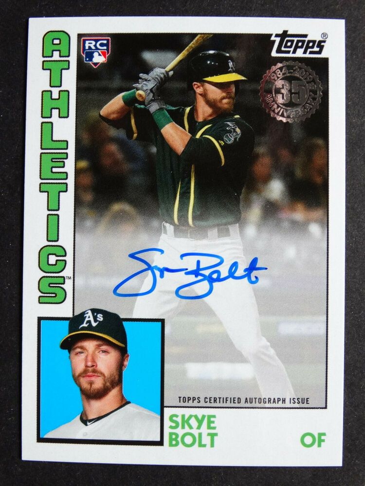 2019 Topps Update 1984 Skye Bolt Athletics A's Auto