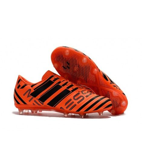 c3e2c52aef44 Adidas Messi Nemeziz 17.1 FG FODBOLDSTØVLE BLØDT UNDERLAG fodboldstøvler  Orange sort