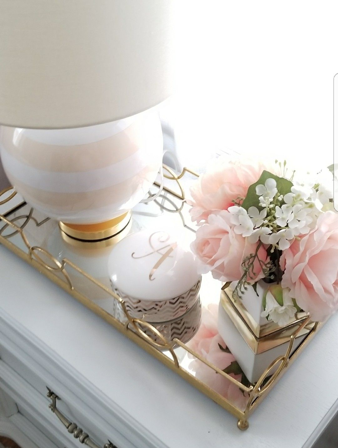 Best White Gold And Blush Accessories White And Gold Decor Grey And Gold Bedroom White Bedroom 640 x 480