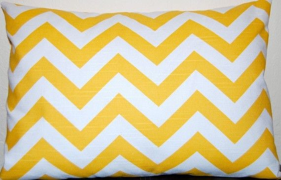 This adorable chevron pillow will certainly bring sunshine to the grey days of winter.