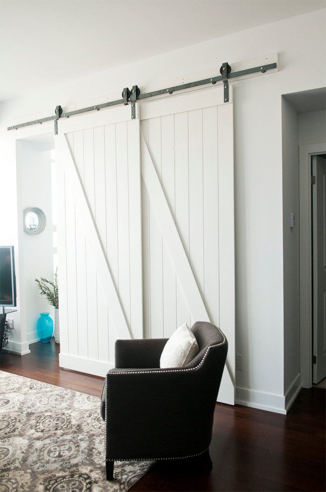 Bypass Barn Door Bedroom Contemporary With Bypass Barn