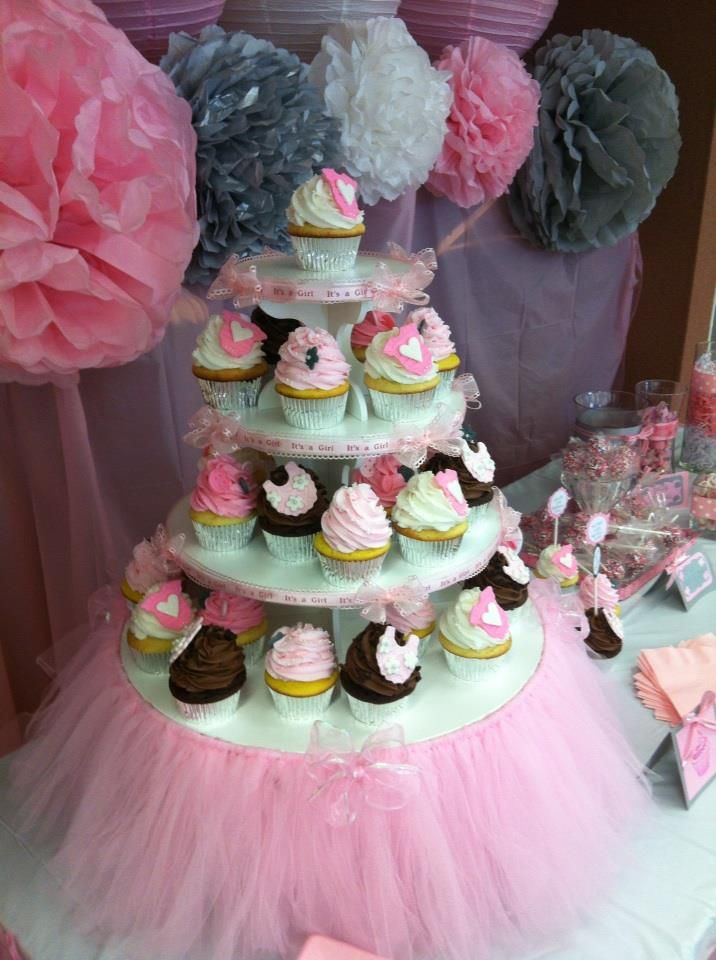 Cupcake Stand Ideas   Baby Shower Cupcake Stand