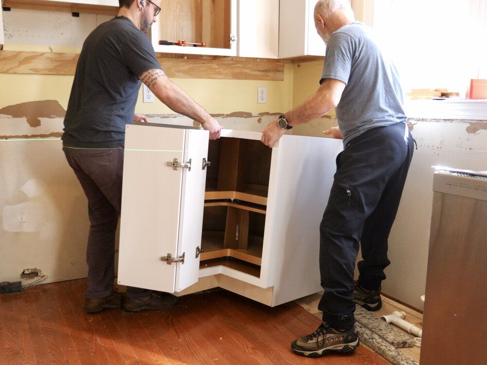 How to install kitchen and remove them