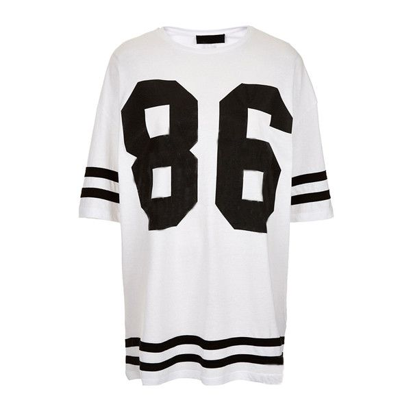 New Women Oversized Baggy 85 86 Varsity T-shirt American Football Baseball