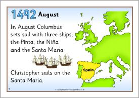 Christopher Columbus timeline posters (SB10311 ...