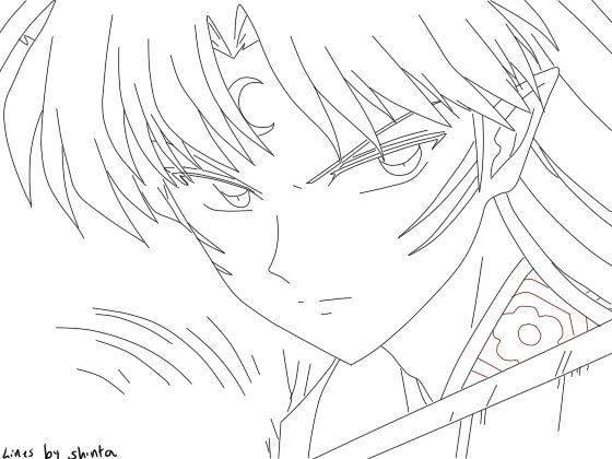 sketch inuyasha  Google Search  coloring pages  Pinterest