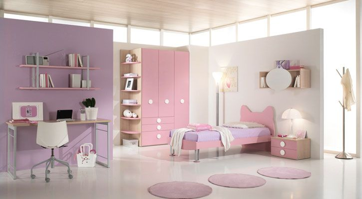 beautiful soft color pink purple for girls bedroom | home is where