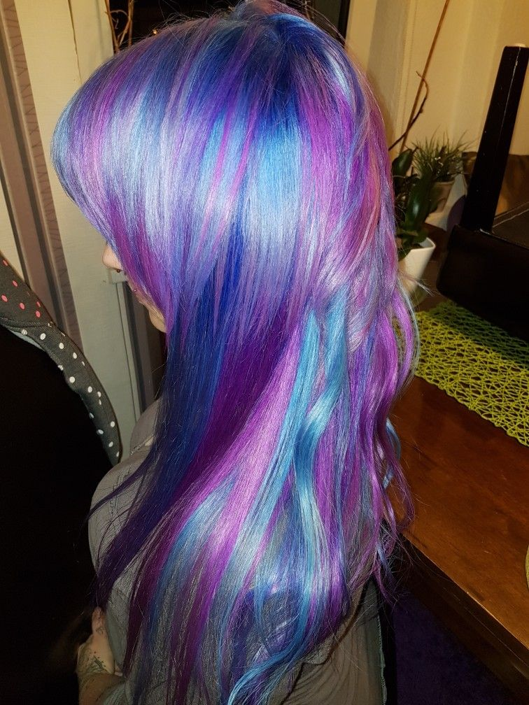 Meine Haare 😍.. Lila, Blau, Türkis   Lila haare, Meine