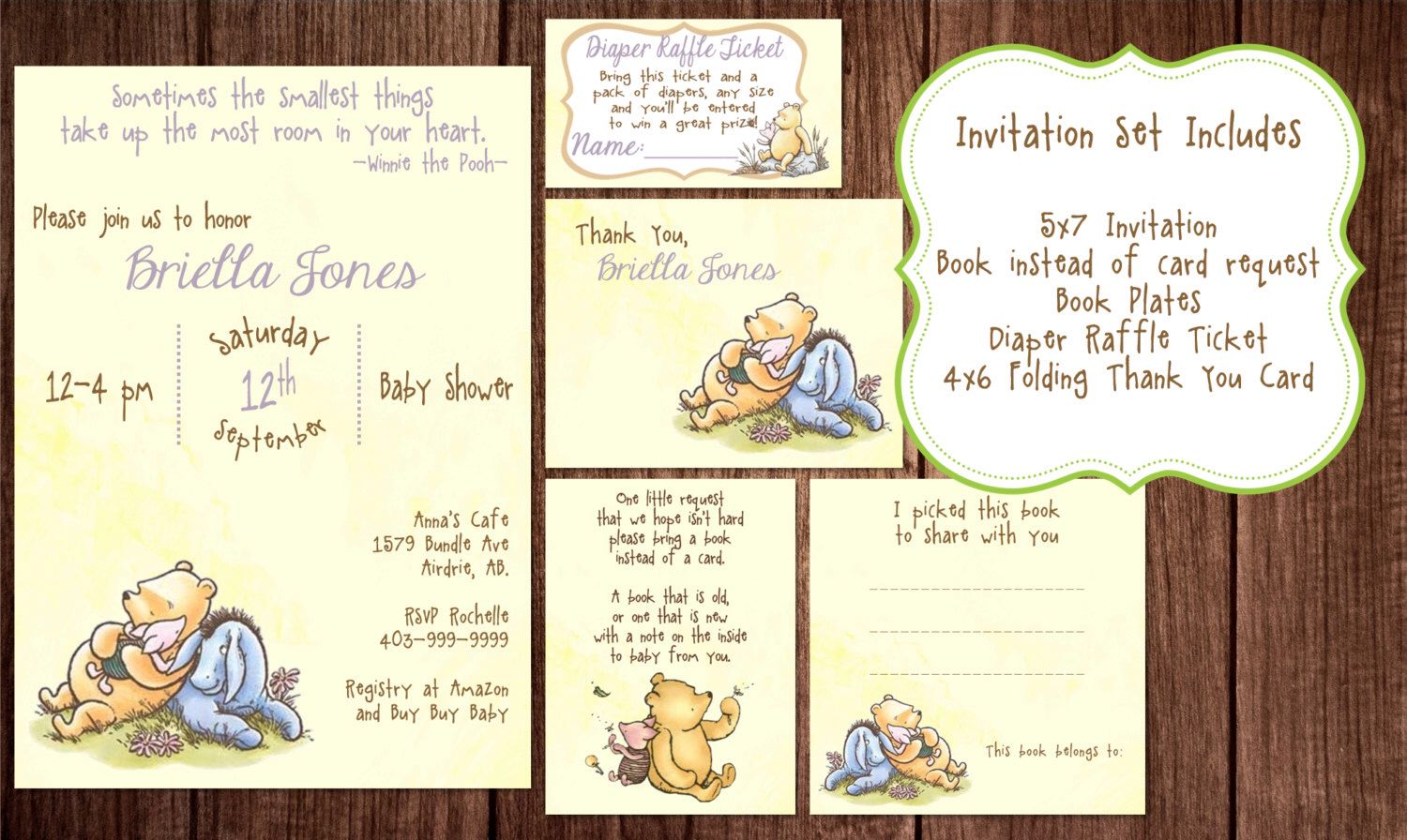 Printable Winnie the Pooh Baby Shower, story book baby shower ...
