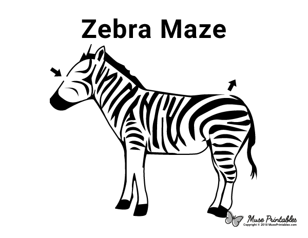 Free Printable Zebra Maze Download It At Https Museprintables Com Download Maze Zebra Zebra Mazes For Kids Printable Printable Mazes