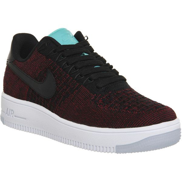 feeb31a09244 Nike Air Force 1 Low Flyknit ( 135) ❤ liked on Polyvore featuring shoes
