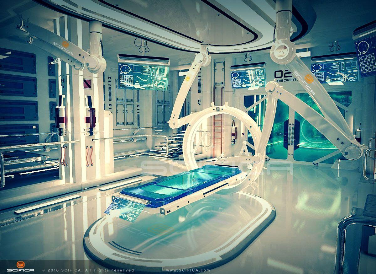 Scifi laboratory interior design sci fi conception hard for Sci fi decor
