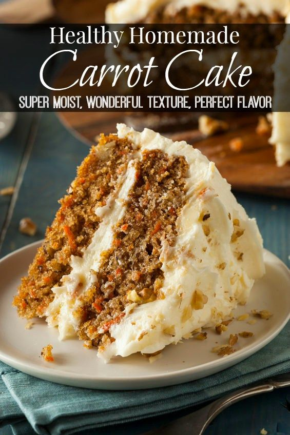This Healthy Homemde Carrot Cake Recipe Is Very Moist Has