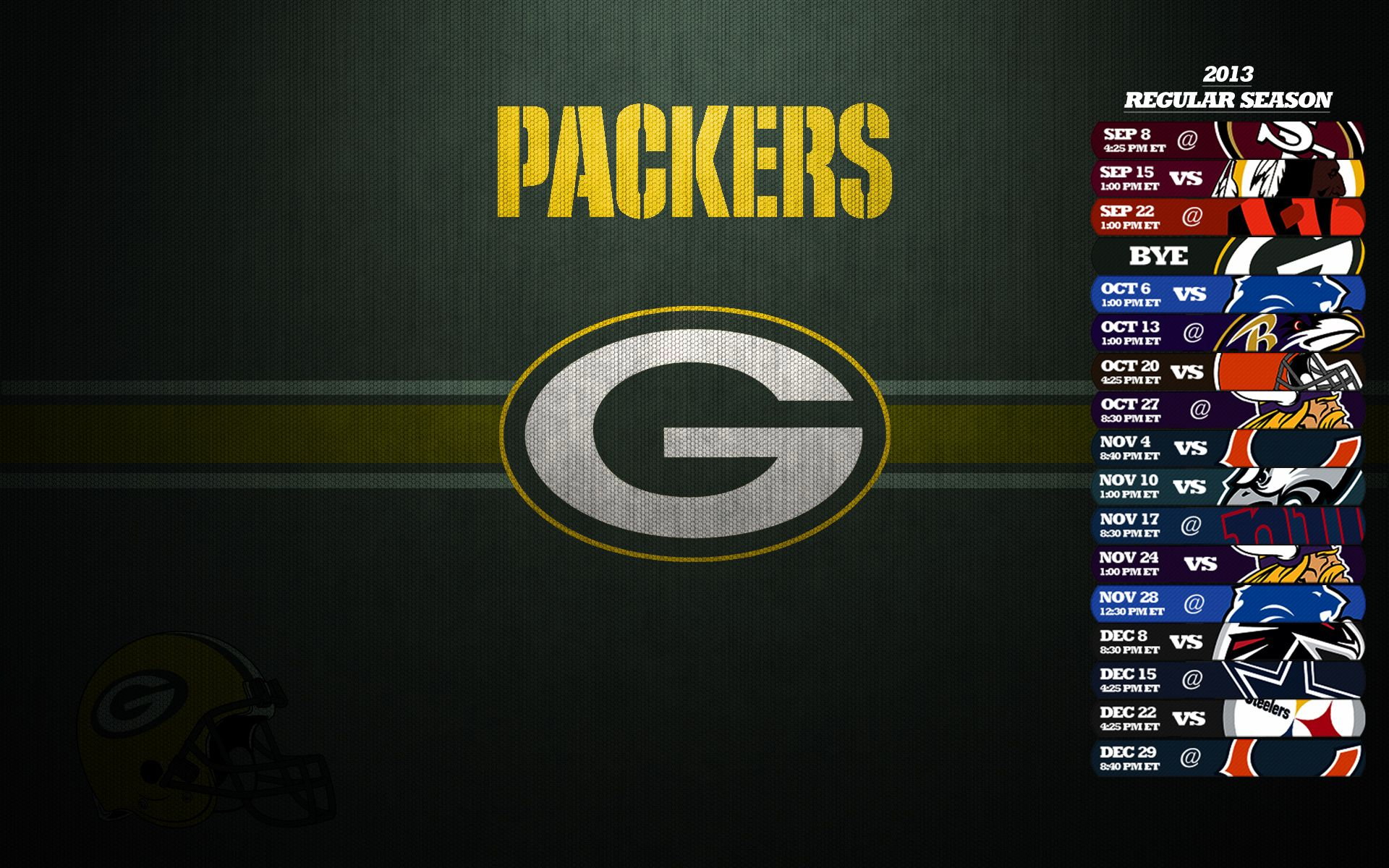 Green Bay Packers Schedule 2013 Wallpaper Green Bay Packers Packers Schedule Green Bay Packers Wallpaper