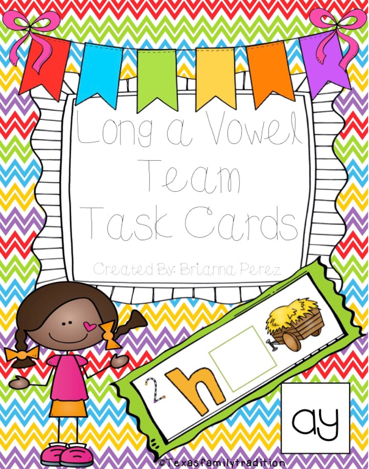 Long A Vowel Team Task Cards With Images